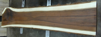 12/4 Walnut Live Edge Bar Top Slab - 1214