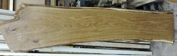6/4 White Oak Live Edge Slab - 1691