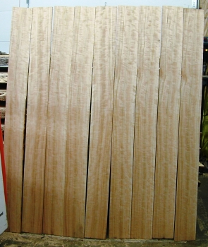 "5/8"" Bookmatched Quartersawn Curly Cherry Set 632"