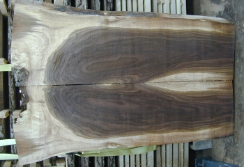 6/4 Bookmatched Walnut Live Edge Slabs - 1282 AB