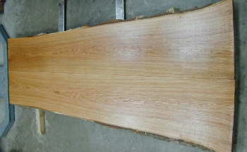 8/4 Bookmatched Red Oak Live Edge Table Top Slabs - 1356 AB