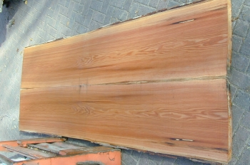 8/4 Bookmatched Red Oak Live Edge Table Top Slabs - 1367 AB