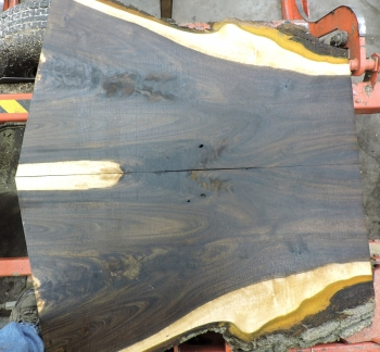 8/4 Bookmatched Walnut Live Edge Slabs - 1385 AB