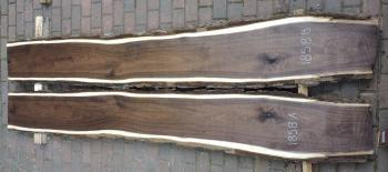 5/4 Bookmatched Walnut Live Edge Slabs - 1858 AB