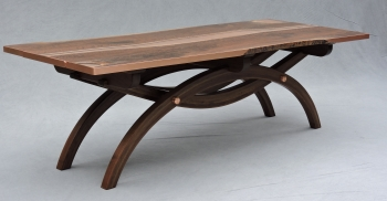 SOLD    Walnut Copper River Bridge Table