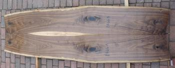 8/4 Bookmatched Walnut Live Edge Slabs - 2466 AB