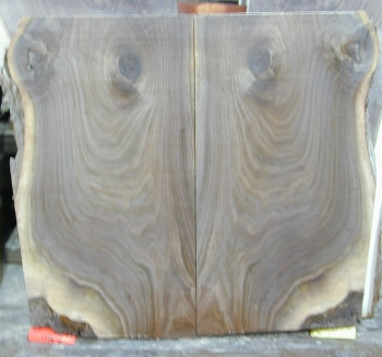 8/4 Bookmatched Walnut Live Edge Table Top Slabs  - 691 AB